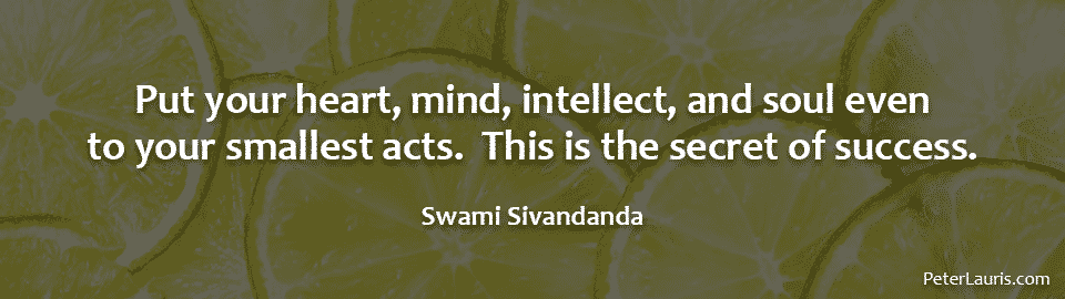 Put your heart, mind, intellect, and soul even to your smallest acts. This is the secret of success.