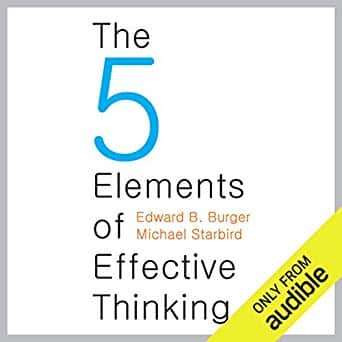 The Five Elements of Effective Thinking cover